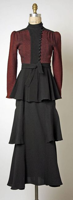 Ensemble (Jacket and Dress)  Ossie Clark  (British, 1942–1996)  Date: 1970–73 Culture: British Medium: synthetics