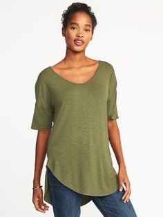 Relaxed Luxe Slub-Knit Tunic for Women  | Old Navy