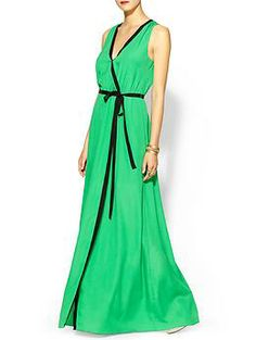 The black piping on this dress gives it an extra-glam appeal! MM Couture Lila Maxi | Piperlime