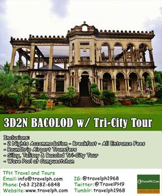 3D2N BACOLOD TRI-CITY TOUR Minimum of 2 persons to travel  For more inquiries please call: Landline: (+63 2)282-6848 Mobile: (+63) 918-238-9506 or Email us: info@travelph.com #Bacolod #Philippines #TravelPH #TravelWithNoWorries Wave Pool, Bacolod, Tri Cities, Philippines, Entrance, Waves, Tours, Mansions, House Styles