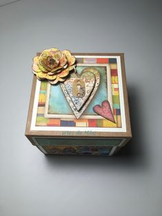Explosion box Patchwork Explosion Box, Scrap, Decorative Boxes, Kid Craft Gifts, Scrappy Quilts, Daisies, Cross Stitch, Tat