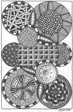 within the circle - gear type - More doodle ideas - Zentangle - doodle - doodling - zentangle patterns. zentangle inspired - #zentangle #doodling #zentanglepatterns
