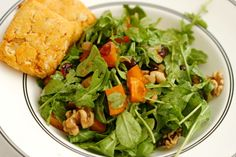 Roasted Butternut Squash Salad w/ Cider Vinaigrette (serve with Sweet Potato Biscuits)