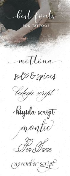 Explore 280 Cursive Script Tattoo Fonts On Creative Market