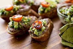 Grilled Steak Crostini with Avocado Salsa