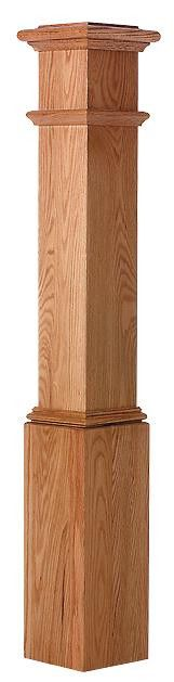 L.J. Smith LJ-4092 — Plain Panel Box Newel from waybuild