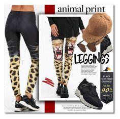 """LEGGINGS - ANIMAL PRINT"" by svijetlana ❤ liked on Polyvore featuring NARS Cosmetics"