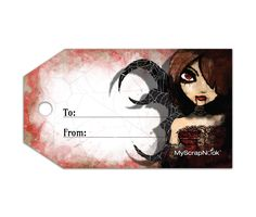 Download this Vampire Gift Tag and other free printables from MyScrapNook.com