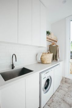 Kyal and Kara's Central Coast Australia home renovation – GetInMyHome Laundry Room Inspiration, Home Decor Kitchen, Room Design, Laundry Mud Room, Timber Shelves, Home, Home Renovation, Laundry Room Update, Laundry Design