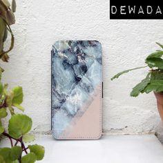 Phone Cases – iPhone 6 flip case marble pink blue – a unique product by hencases via en.DaWanda.com