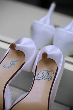 I DO Shoe Stickers in Blue for your by YourHappilyEverAfter, $10.00