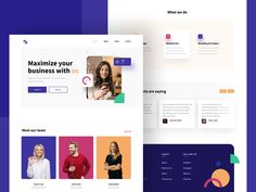 Digital Marketing agency Landing Page designed by Mithun Ray✪ . Connect with them on Dribbble; the global community for designers and creative professionals. Landing Page Design, Color Palettes, Creative Design, Digital Marketing, Branding, Website, Business, Brand Management, Colour Schemes