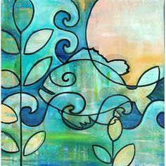 Sun Fish Beach Water Blue Green Shower Curtain On CafePress Peach