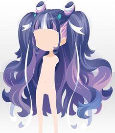 Vintage Vogue Fashion, Vintage Fashion Sketches, Fashion Design Sketches, Anime Purple Hair, Anime Hair, Dress Illustration, Fashion Illustration Dresses, Pelo Anime, Chibi Hair