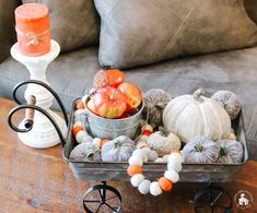 Coffee Table Tray Decor 12 Fall Coffee Table Tray Decor Ideas To bring in oxygen and a quantity of w Coffee Table Tray, Coffee Table Design, Small Wooden Tray, Decorative Spheres, Autumn Display, Glass Pumpkins, Garden Soil, Tray Decor, Fall Decor