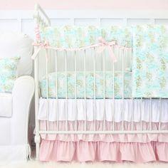 Charming Unicorns Bumperless Crib Bedding | Caden Lane