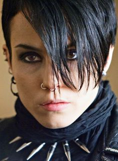 """Noomi Rapace as Lisbeth Salander in Män som hatar kvinnor (The Girl with the Dragon Tattoo) - """"I've never done this before. Ola Rapace, Noomi Rapace, Robert Downey Jr, Lisbeth Salander, Werner Herzog, Stieg Larsson, Millenium, Strong Female Characters, Female Heroines"""