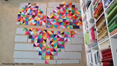 Friday Spotlight: Michelle's 'i heart you' WIP — SewCanShe | Free Daily Sewing Tutorials