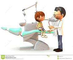 Muchacho de la historieta que visita al dentista.