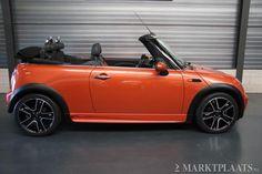 Beautiful MINI Cooper Cabrio in a vivid orange