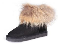 Womens Classic MINI Ugg Fox Fur Boots BLACK $176.22 http://www.gotofashionhots.com/womens-classic-mini-ugg-fox-fur-boots-black-p-332.html
