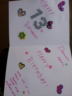 birthday card made using stickers and some nail stickers which are the little butterflies ...