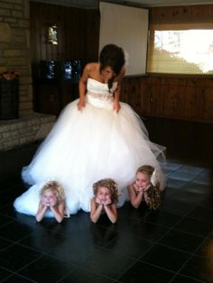 cute flower girl photo