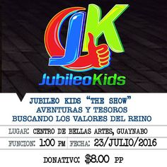 Jubileo Kids The Show: Aventuras y Tesoros #sondeaquipr #jubileokids #cba #guaynabo #teatropr