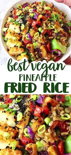 Vegan Dinner Recipes, Veggie Recipes, Asian Recipes, Whole Food Recipes, Vegetarian Recipes, Cooking Recipes, Veggie Food, Vegan Recipes With Rice, Easy Veggie Meals