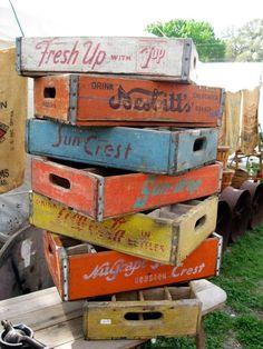 cajones de almacenamiento antiguos...