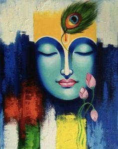 fine art Plus Size plus size flare jeans Lord Ganesha Paintings, Krishna Painting, Madhubani Painting, Krishna Art, Krishna Drawing, Ganesha Art, Krishna Images, Radhe Krishna, Buddha Painting
