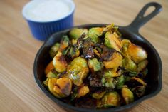 Low Carb Buffalo Brussels sprouts