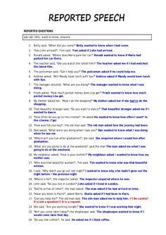 reported speech - Поиск в Google