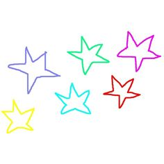 Colorful Stars Pictures, Colorful Stars Images, Colorful Stars Photos,... ❤ liked on Polyvore featuring backgrounds, doodles, filler, stars and rainbow
