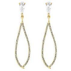 Mood - Diamante embellished gold chandelier earring   Biżuteria ...