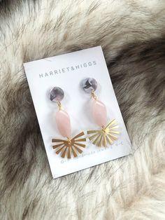 STRAWBERRY QUARTZ chandelier earrings Peach MOONSTONE S.S pink aquamarine accent Boho style organic jewelry Valentine/'s day