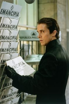 Christian Bale in Equilibrium (this scene was not in the final film)