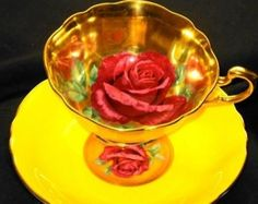 Paragon  Rose Sizzling Gold  Yellow  Tea cup and saucer