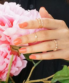 Rose Gold Midi Rings Set Dainty Midi Rings Set by ShopBaublesNGems