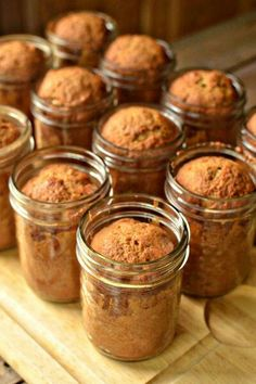 Banana bread in jars