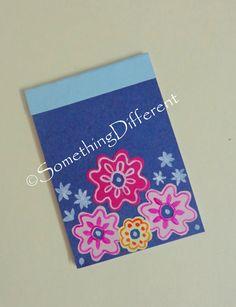 Handmade Notepad, #flowers