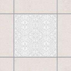 Fliesenaufkleber - Time Curls By Light Grey 15x15 cm - Fliesensticker Set Grau