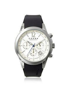 53% OFF Cross Men's CR8011-02 Agency Black/Silver Stainless Steel Watch