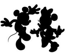 minnie and mickey silhouette - Google Search