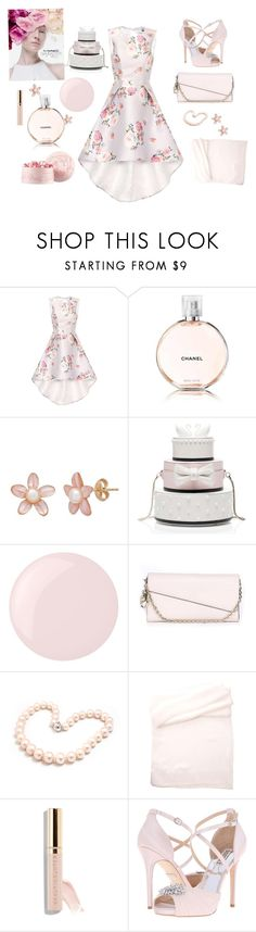 """Elegant Floral"" by bevans46 ❤ liked on Polyvore featuring Chi Chi, Chanel, M.A.C, Kate Spade, Essie, Christian Dior, Hiho Silver, Beautycounter and Badgley Mischka"