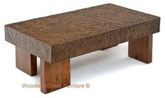 Metal Block Cocktail Table - Industrial Design by Woodland Creek.  Available any length and width.