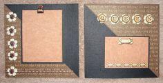 #papercraft #scrapbook #minialbum: Dog Album - Page 4-5 (made by Stephanie Hackney/PaperCrafter's Corner)