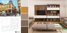 La fel ca și orașul Belgrad, mobilierul cu același nume îmbină perfect clasicul și modernul! Living, Bookcase, Shelves, Modern, Home Decor, Shelving, Trendy Tree, Decoration Home, Room Decor