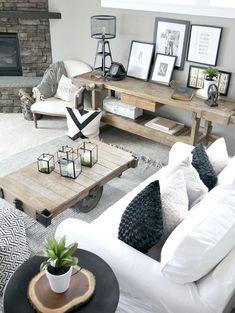 29 Gorgeous Modern Farmhouse Living Room Makover Ideas