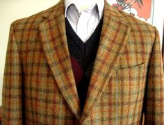 Vintage+Harris+Tweed+Jacket+/+Blazer++Tagged+44R+by+TheTweedJacket,+$60.00
